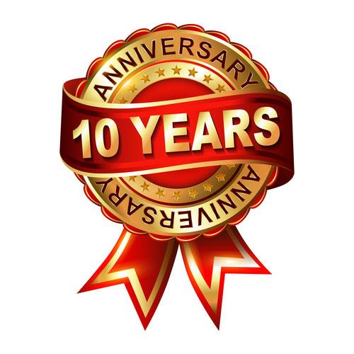10 years anniversary with ready machinery