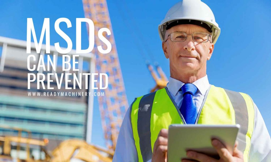 MSDs can be prevented