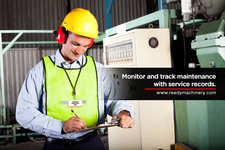 Monitor and track maintenance with service records