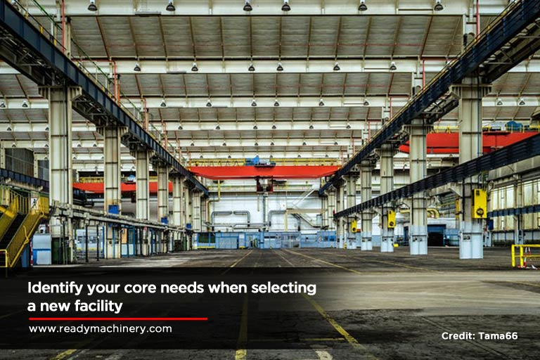 Identify your core needs when selecting a new facility